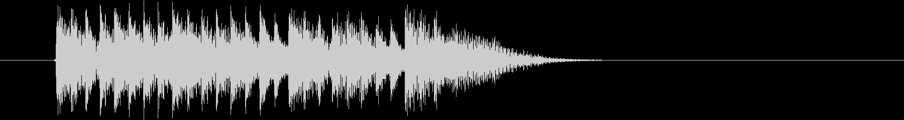 幻想的なテクノポップの未再生の波形