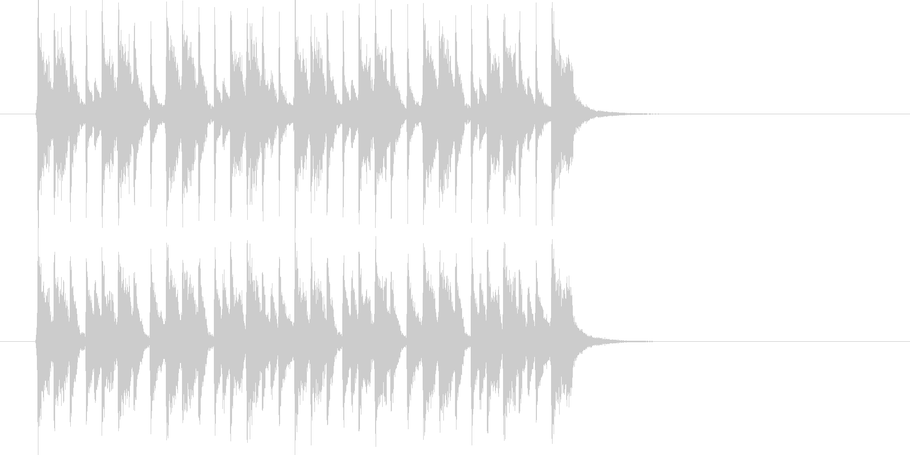 制限時間が迫るイメージのテクノポップの未再生の波形