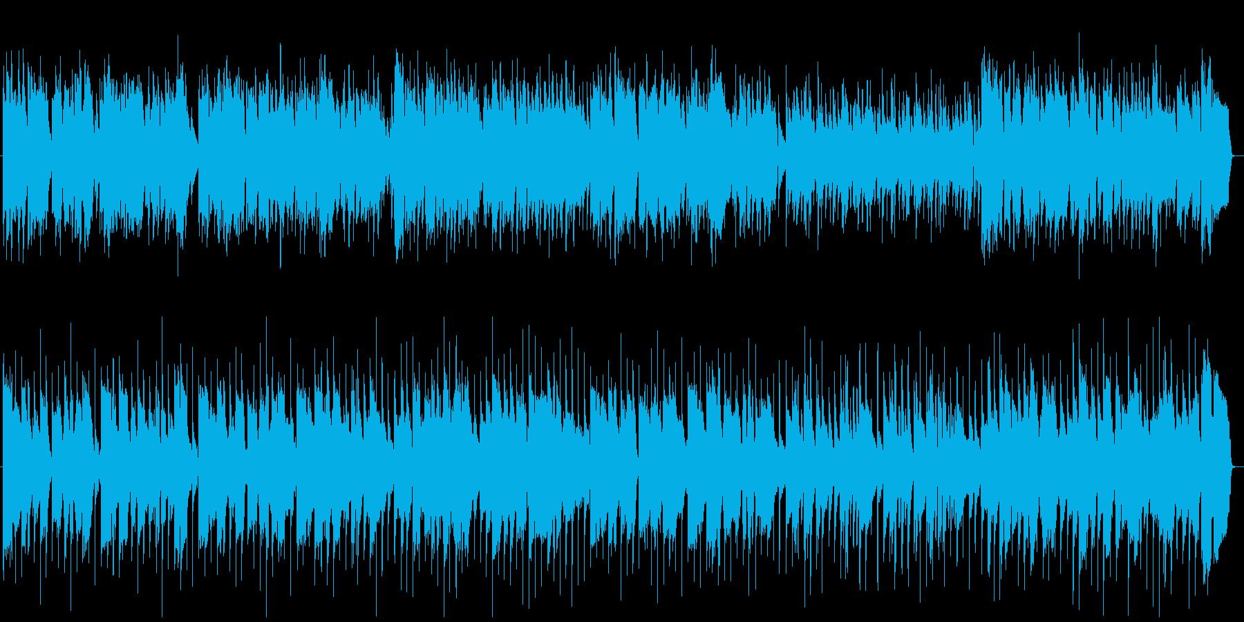フルートとギターの優しいボサノバの再生済みの波形