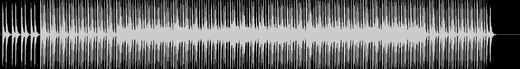 シンプルな4つ打ちエレクトロ・テクノの未再生の波形