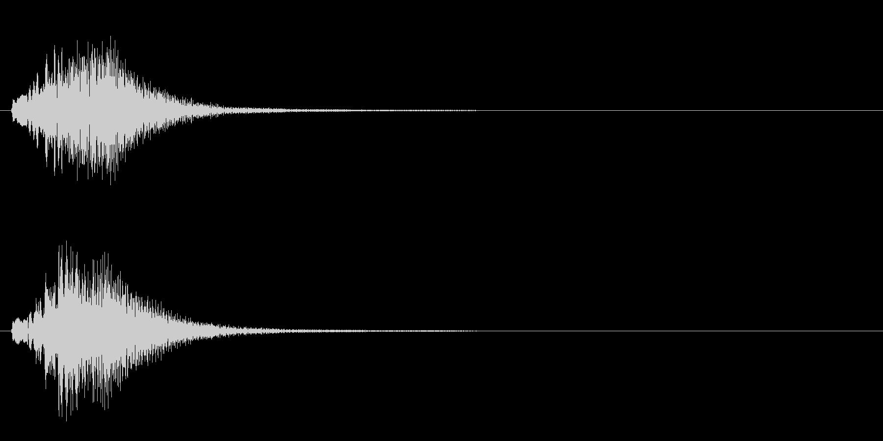 ラジオや動画の効果音にハープグリッサンドの未再生の波形