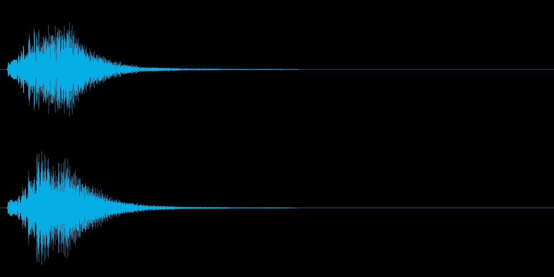 ラジオや動画の効果音にハープグリッサンドの再生済みの波形
