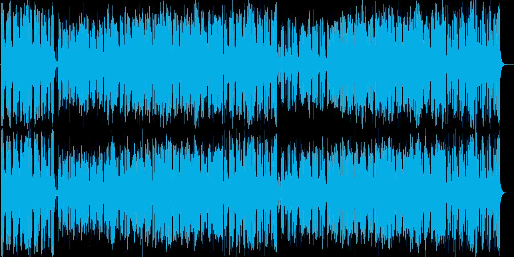 穏やかでエレクトーンが印象的なハウスの再生済みの波形