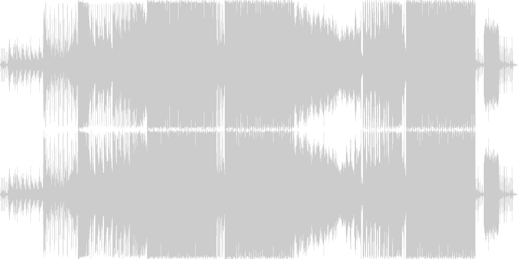 EDMなパッヘルベルのカノンの未再生の波形