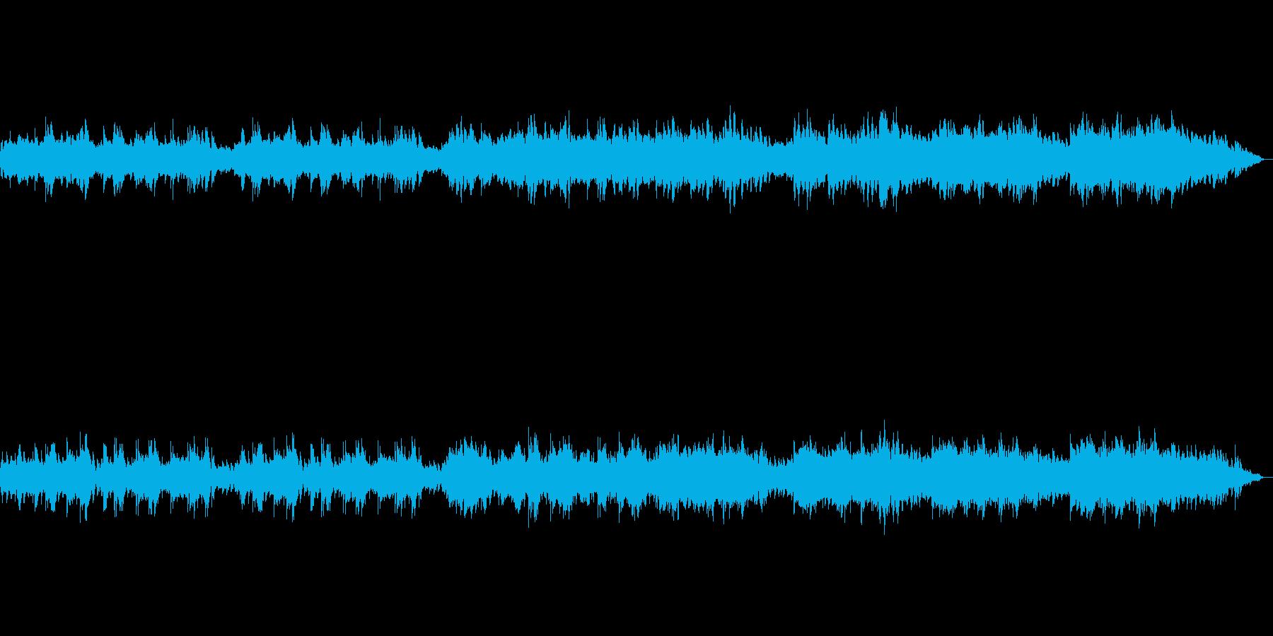 悲しく切ないピアノ曲の再生済みの波形
