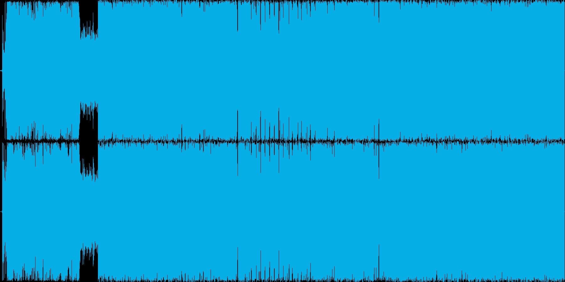 戦闘系ロック200BPM ループ用の再生済みの波形