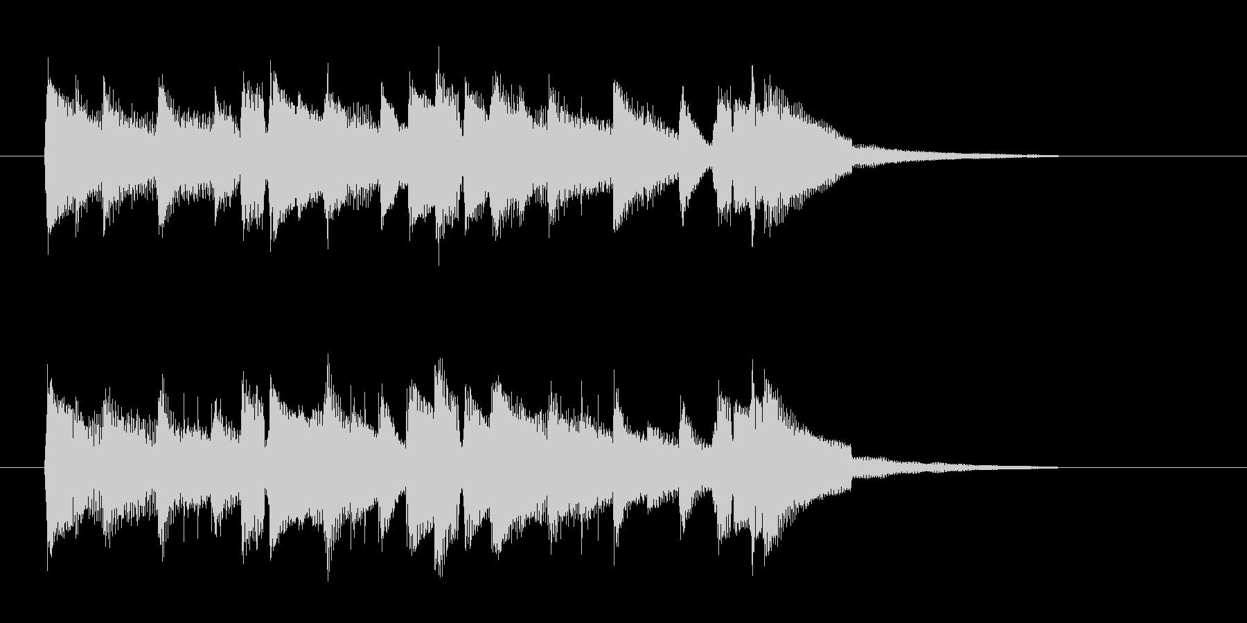 流れるようなミディアムテンポの曲の未再生の波形