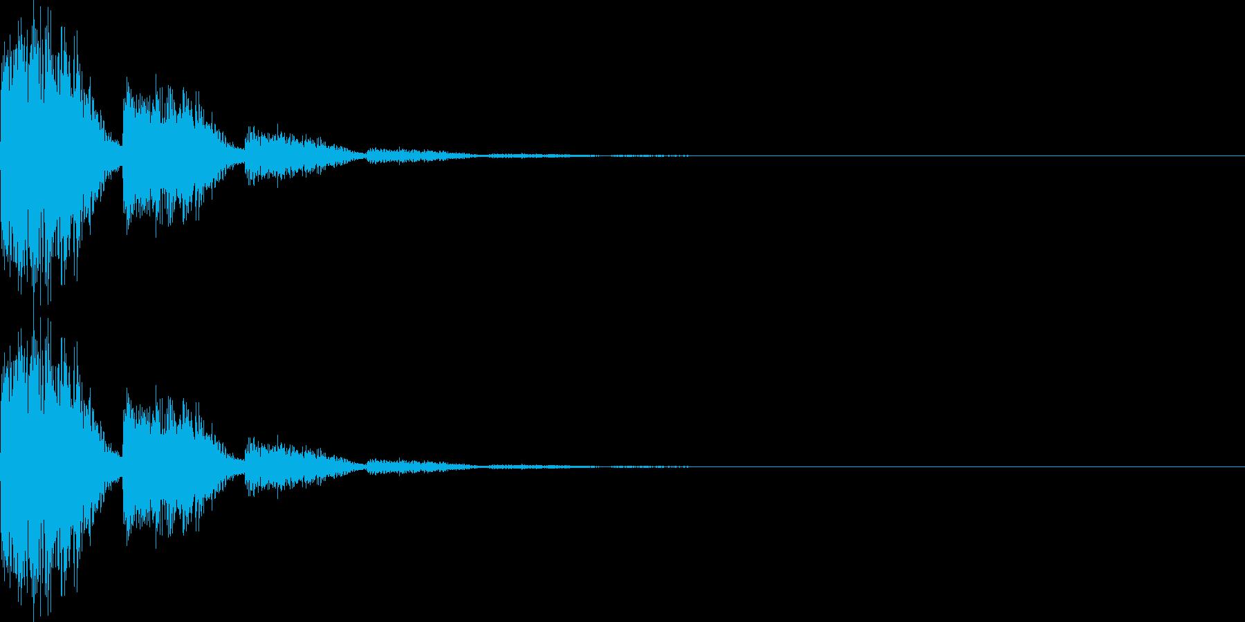 ビビ(キャンセル、ミス、失敗)の再生済みの波形
