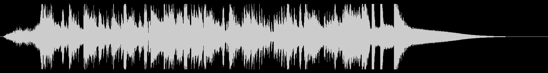 ハイテク企業ジングル 疾走感ジャズピアノの未再生の波形