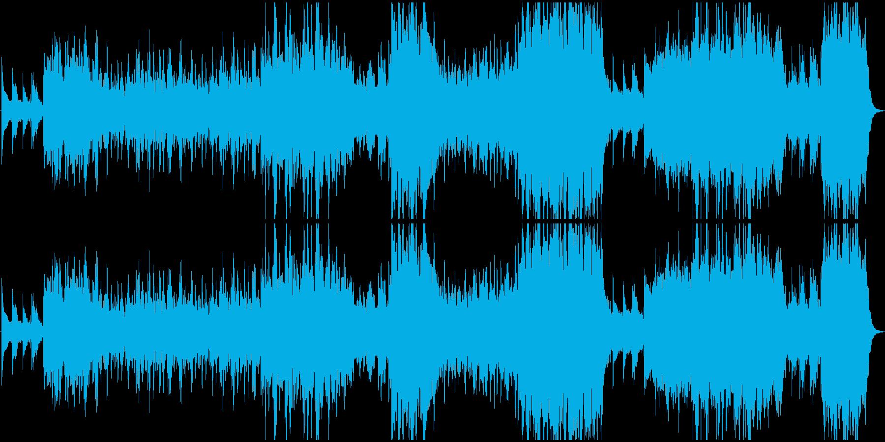 どこまでも続く海を壮大なピアノでの再生済みの波形