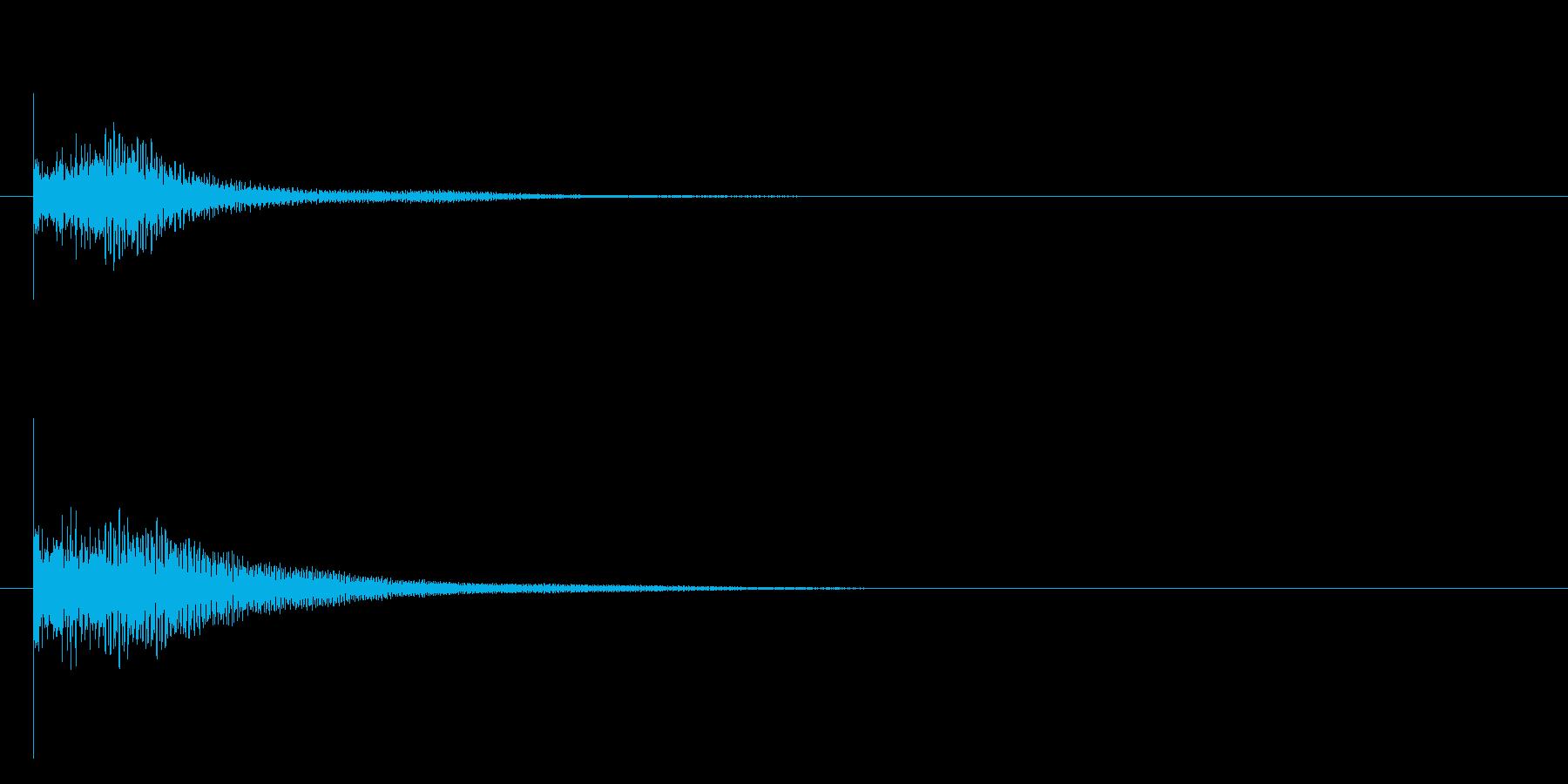 トゥンの再生済みの波形