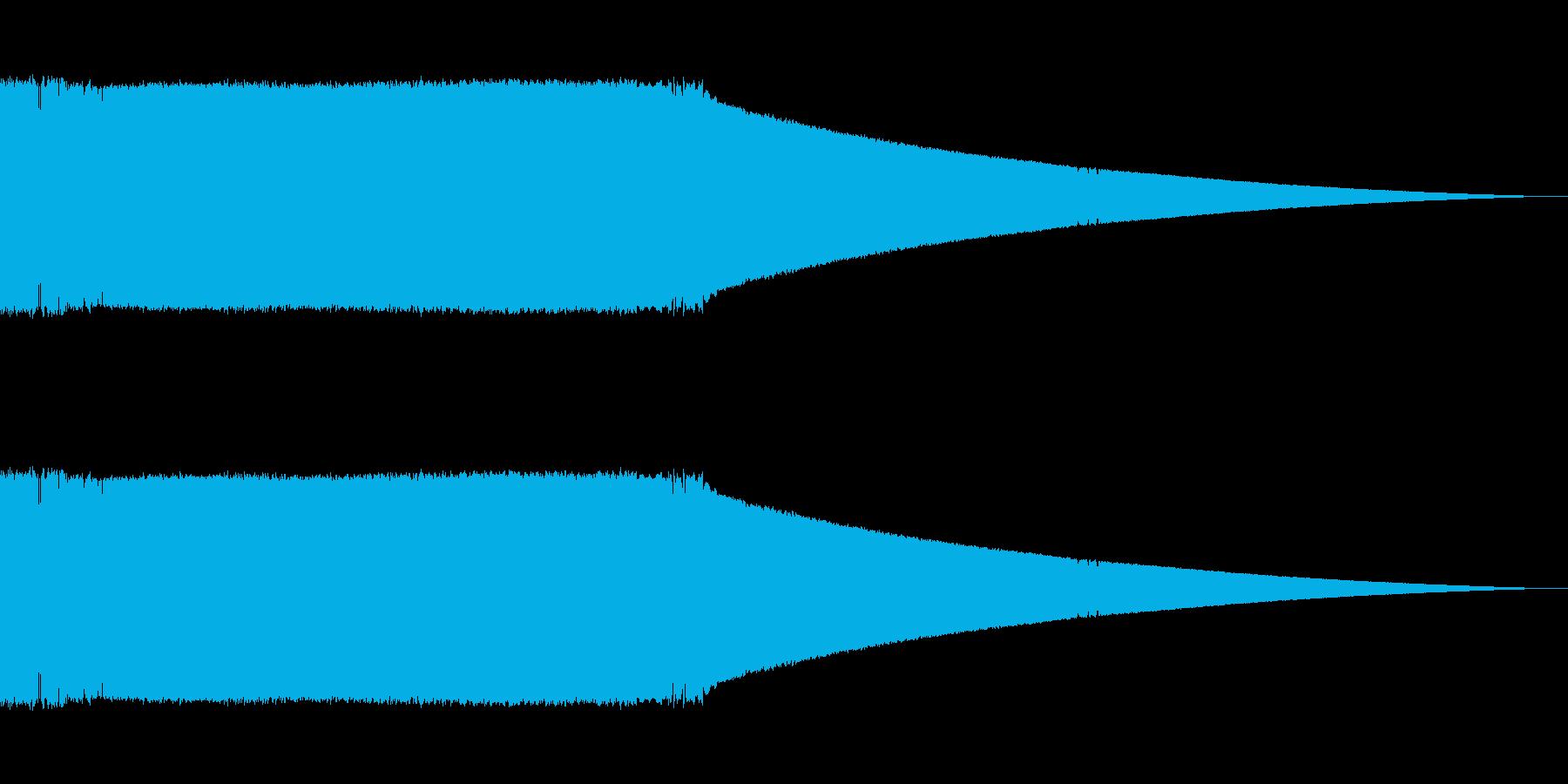 ひらめく(電球が光る)の再生済みの波形