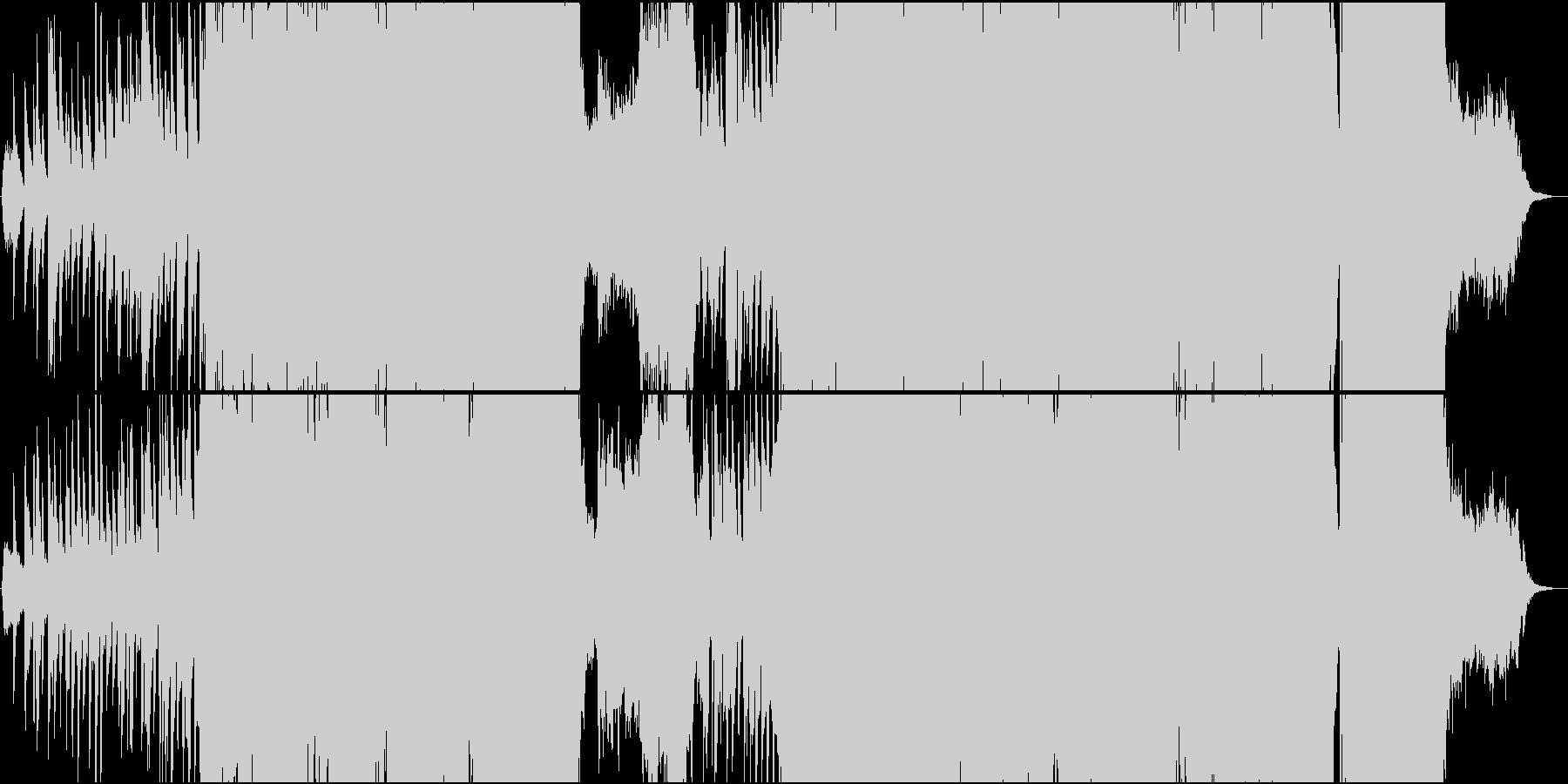 静・動が交錯する切ないメロディーのEDMの未再生の波形