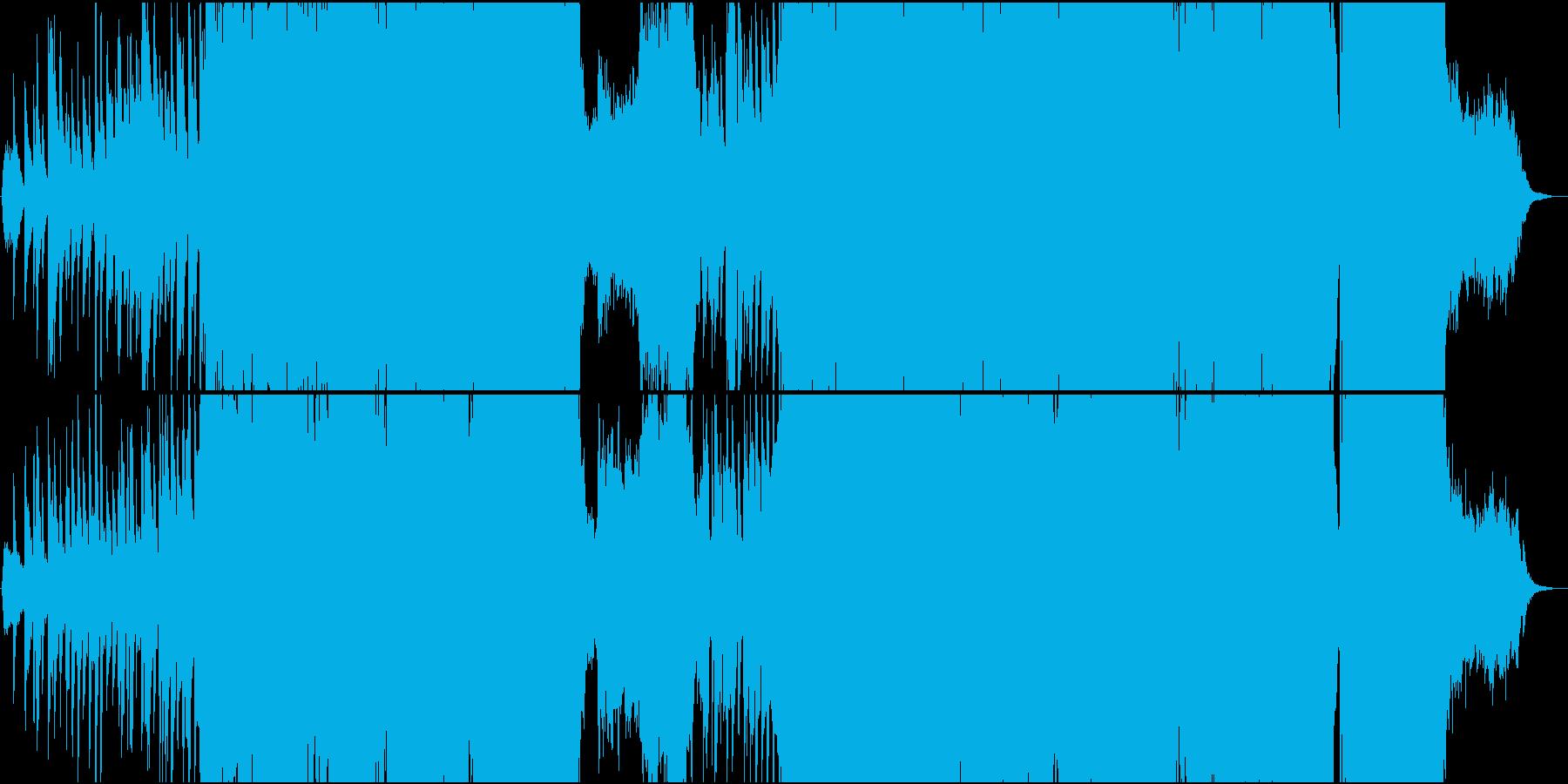 静・動が交錯する切ないメロディーのEDMの再生済みの波形