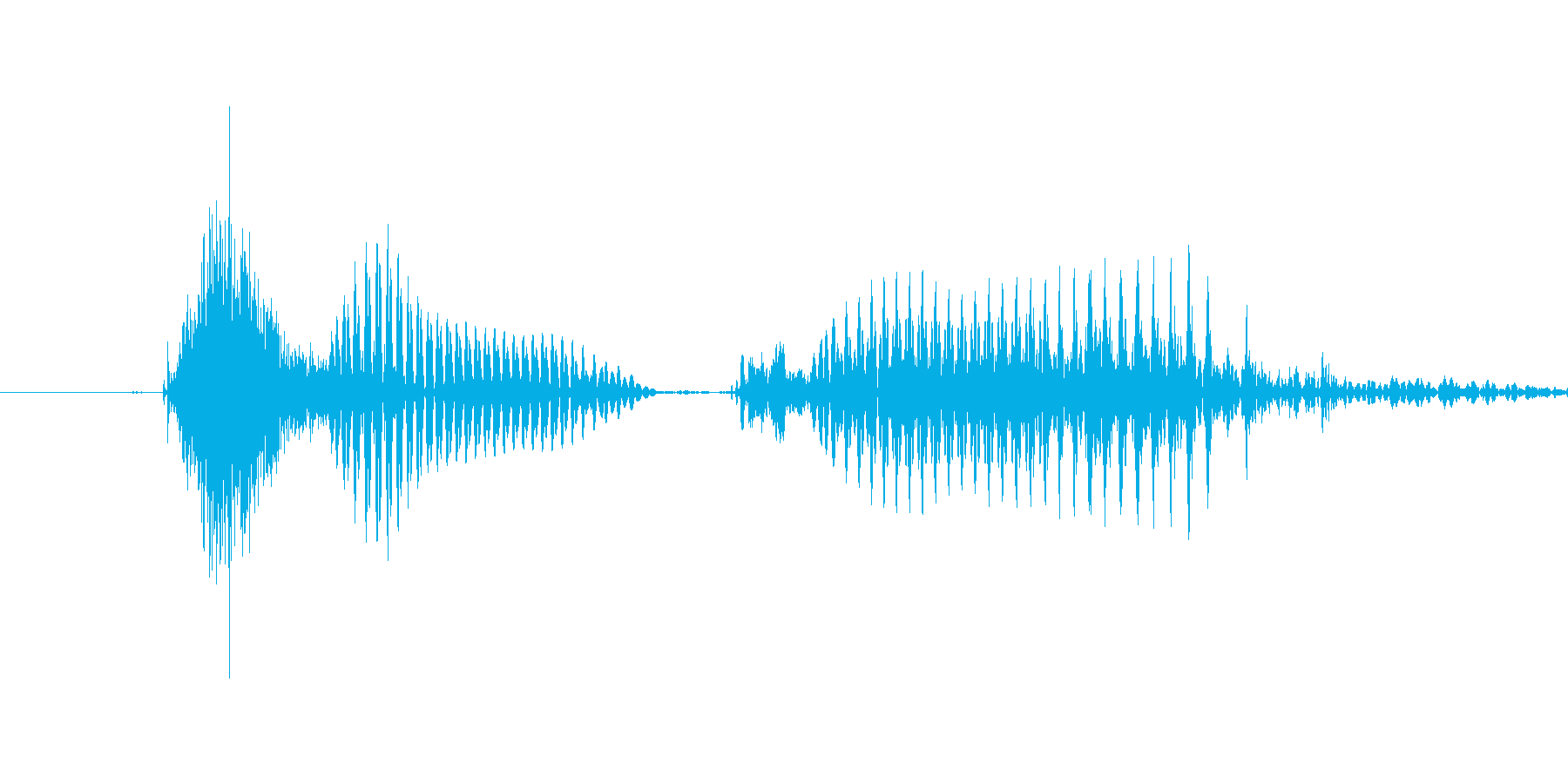 「2 PM」英語発音の再生済みの波形