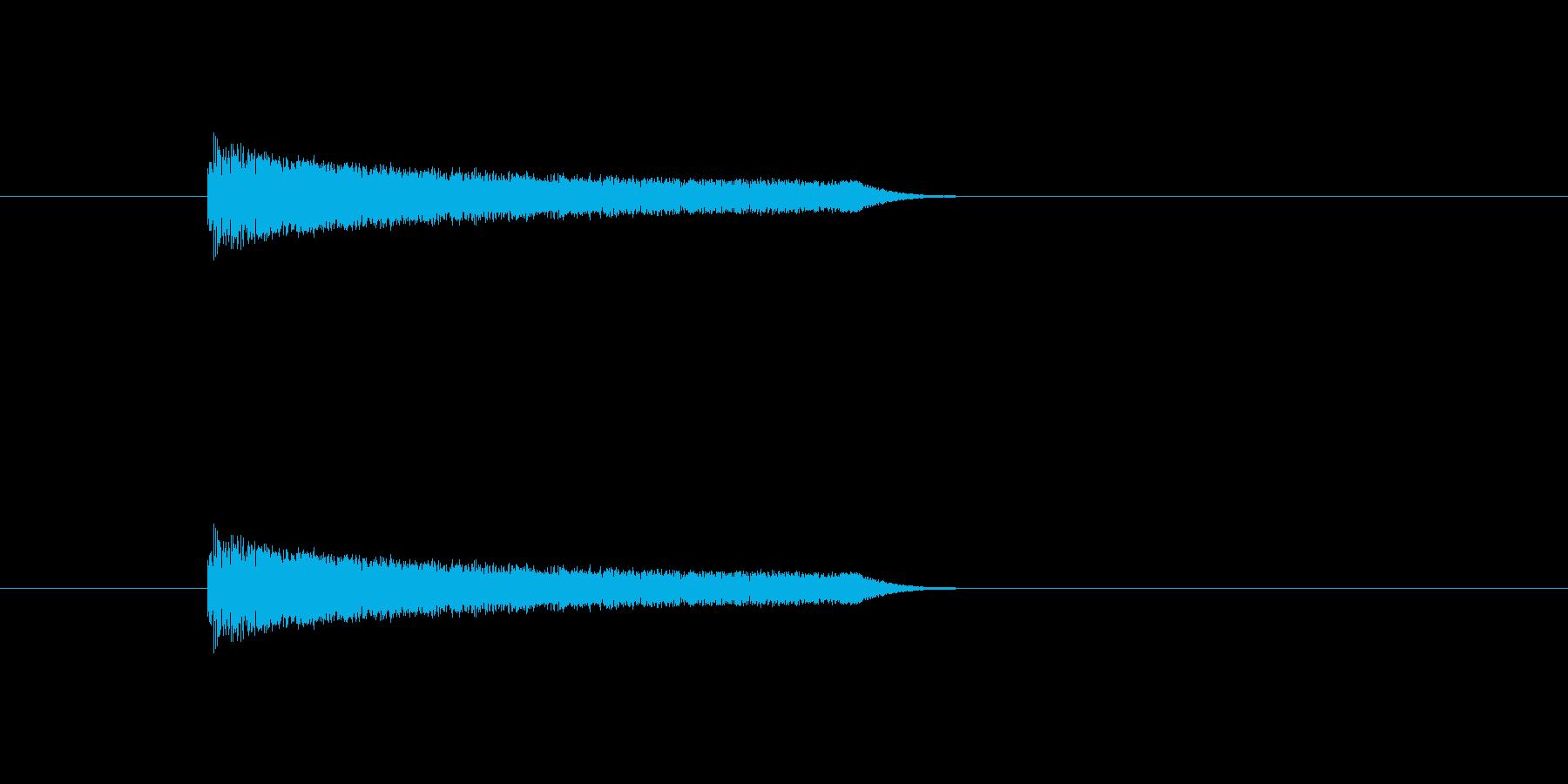ういーと機械が動くような音ですの再生済みの波形