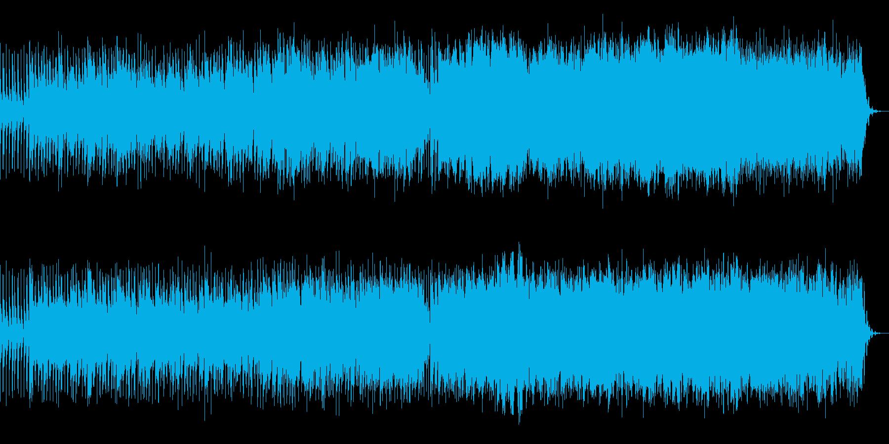 シリアスで儚い雰囲気のあるBGMの再生済みの波形