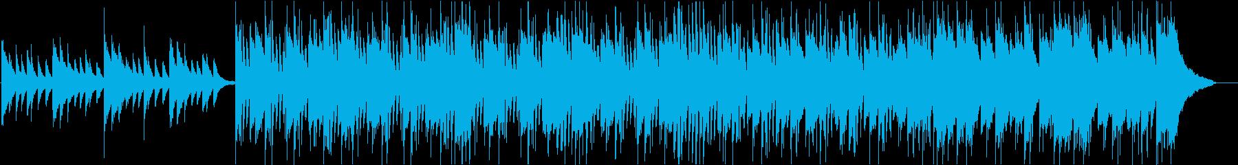 情熱的な雰囲気の疾走ピアノロックの再生済みの波形