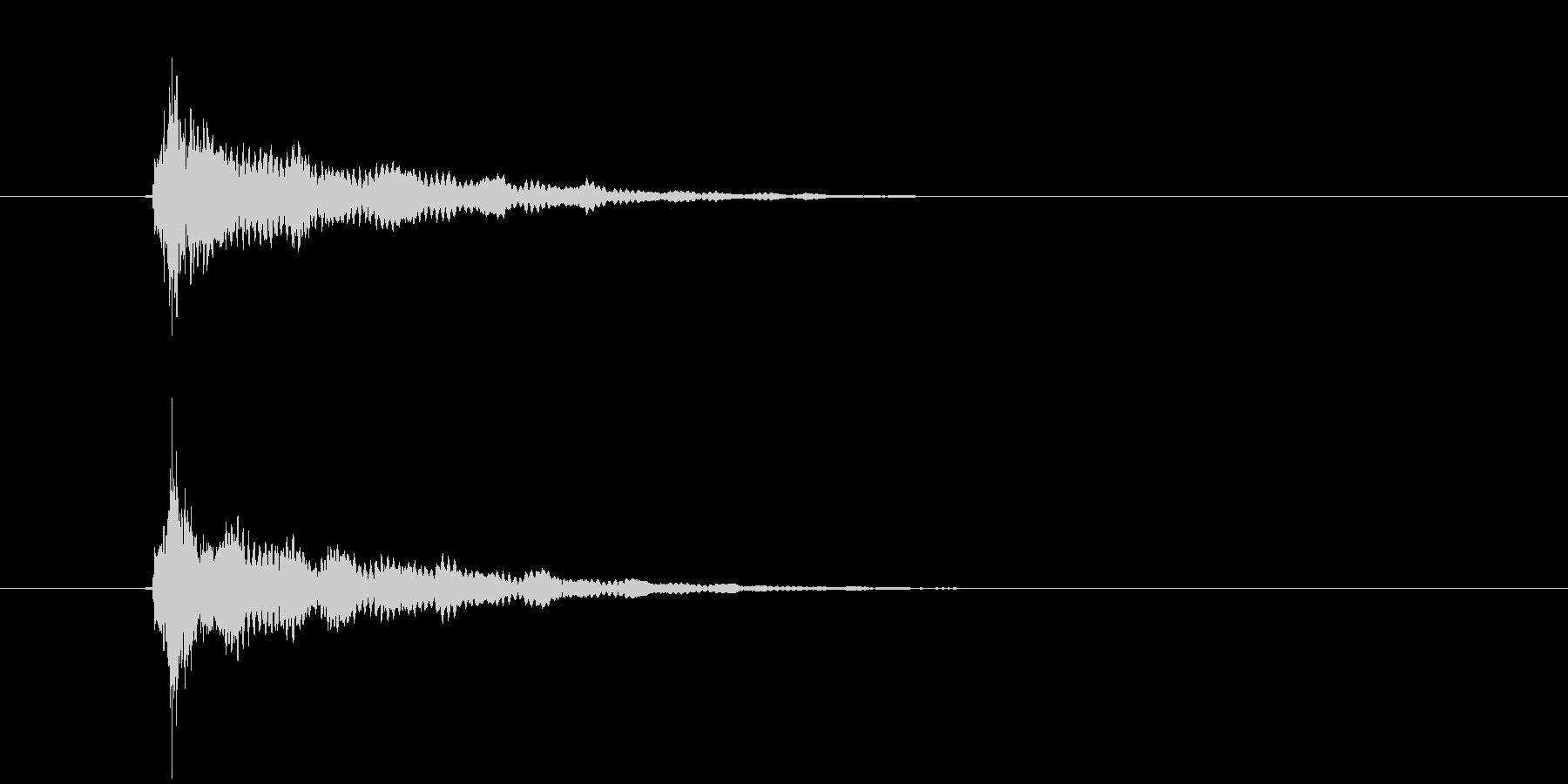 ティーン(ひらめき音)の未再生の波形