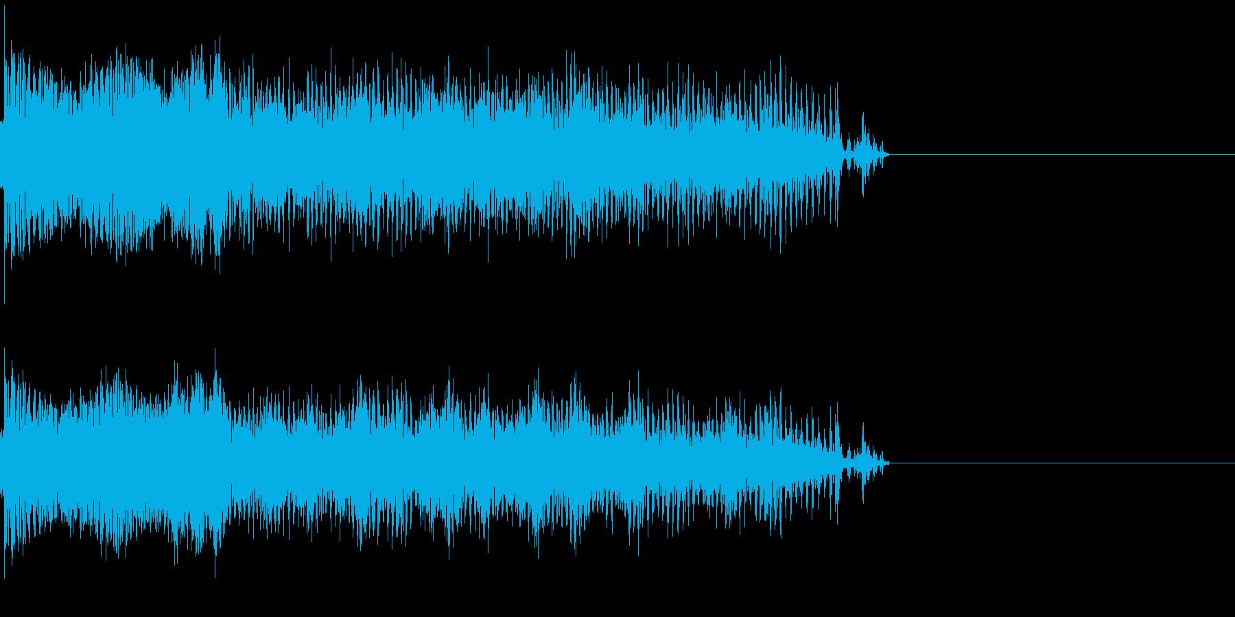発電音の再生済みの波形