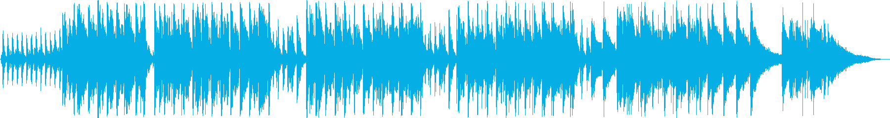 軽やかなインフォメーションミュージックの再生済みの波形