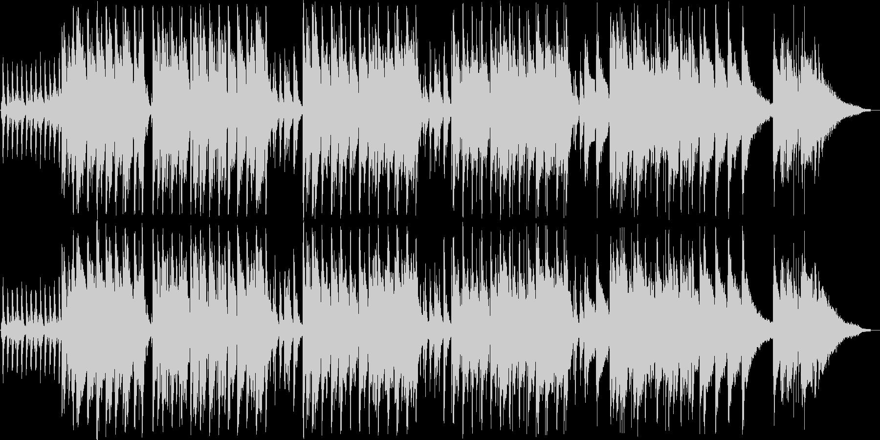 軽やかなインフォメーションミュージックの未再生の波形