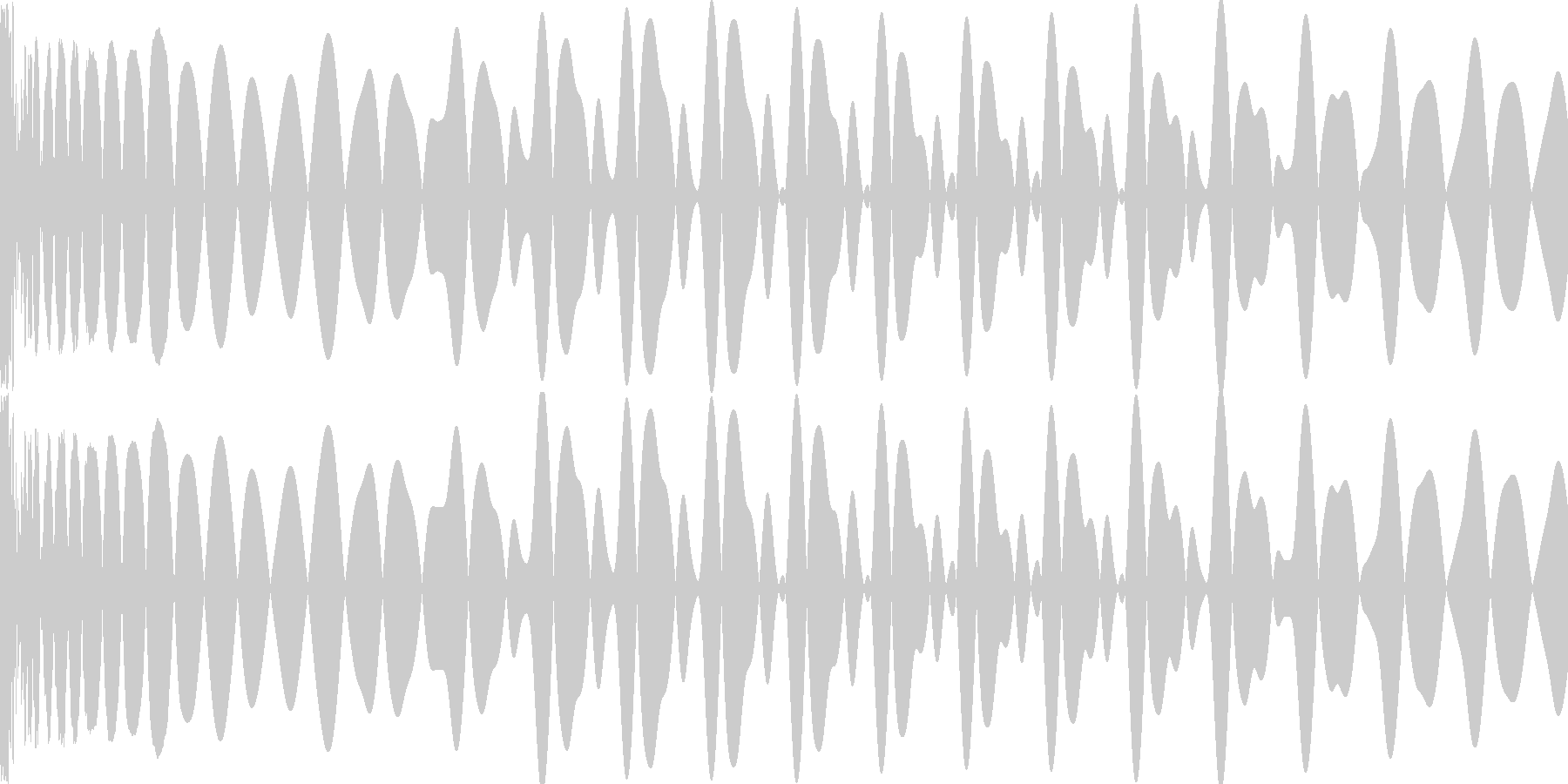 EDMキー入り(E)キックです。の未再生の波形