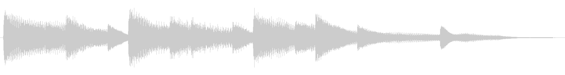 軽やかなピアノのサウンドロゴの未再生の波形