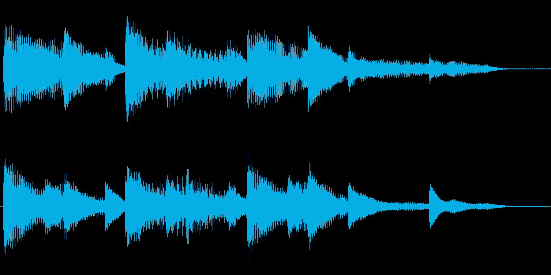 軽やかなピアノのサウンドロゴの再生済みの波形