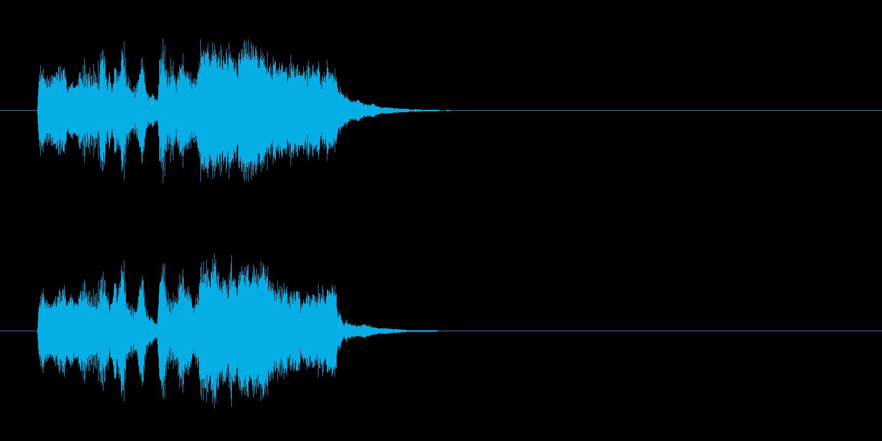 軽快なフォークダンス風ポップスのジングルの再生済みの波形