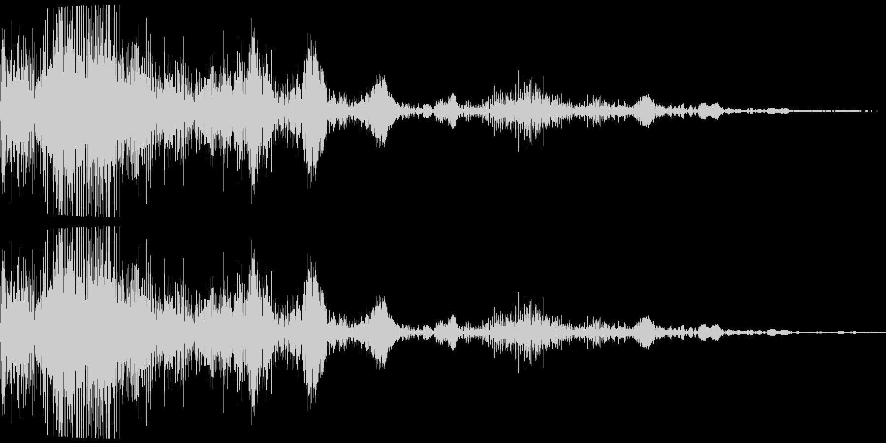 衝撃音(バンシュワッ)の未再生の波形