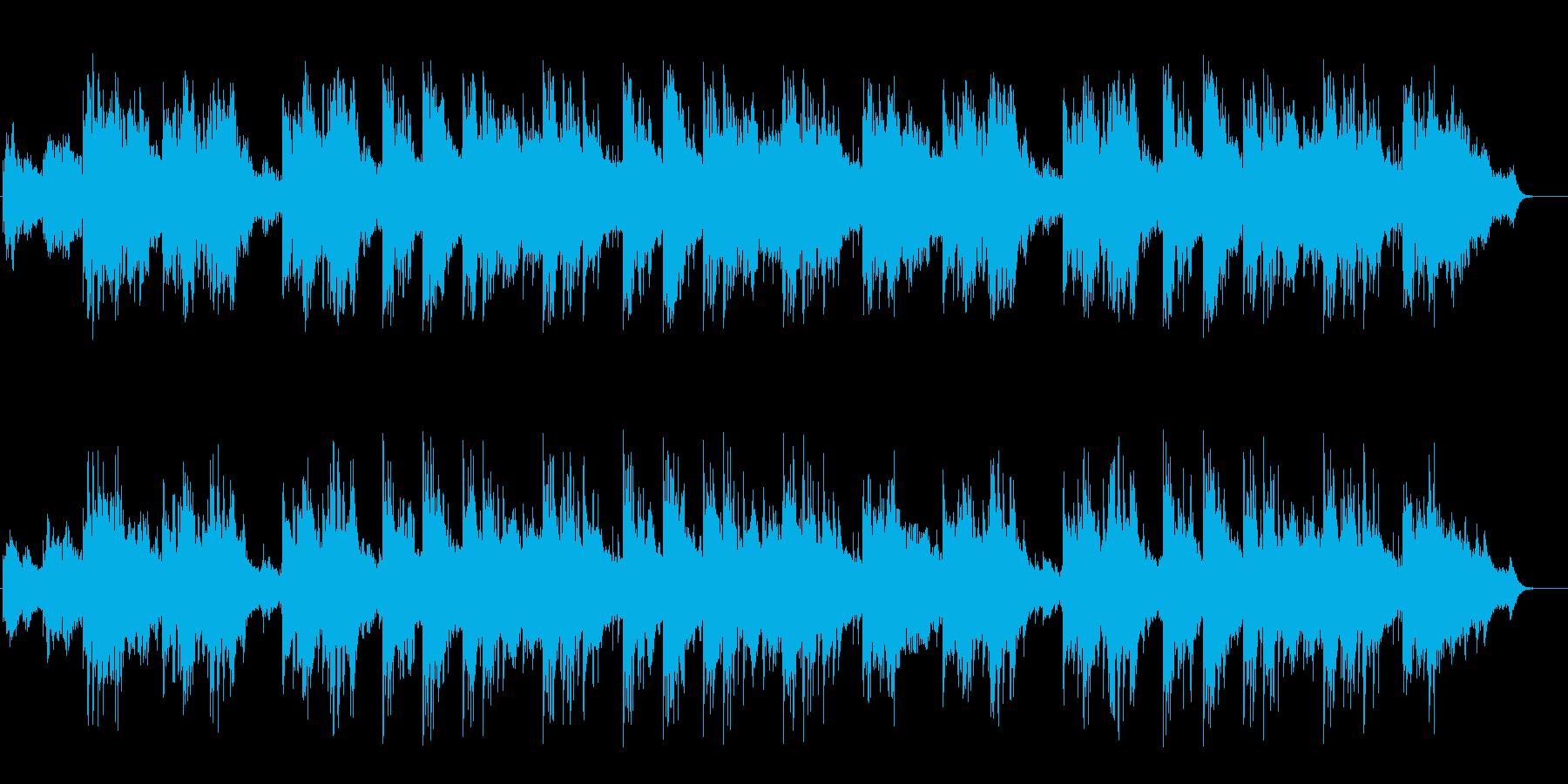 吸い込まれそうになる神秘的な環境音楽の再生済みの波形