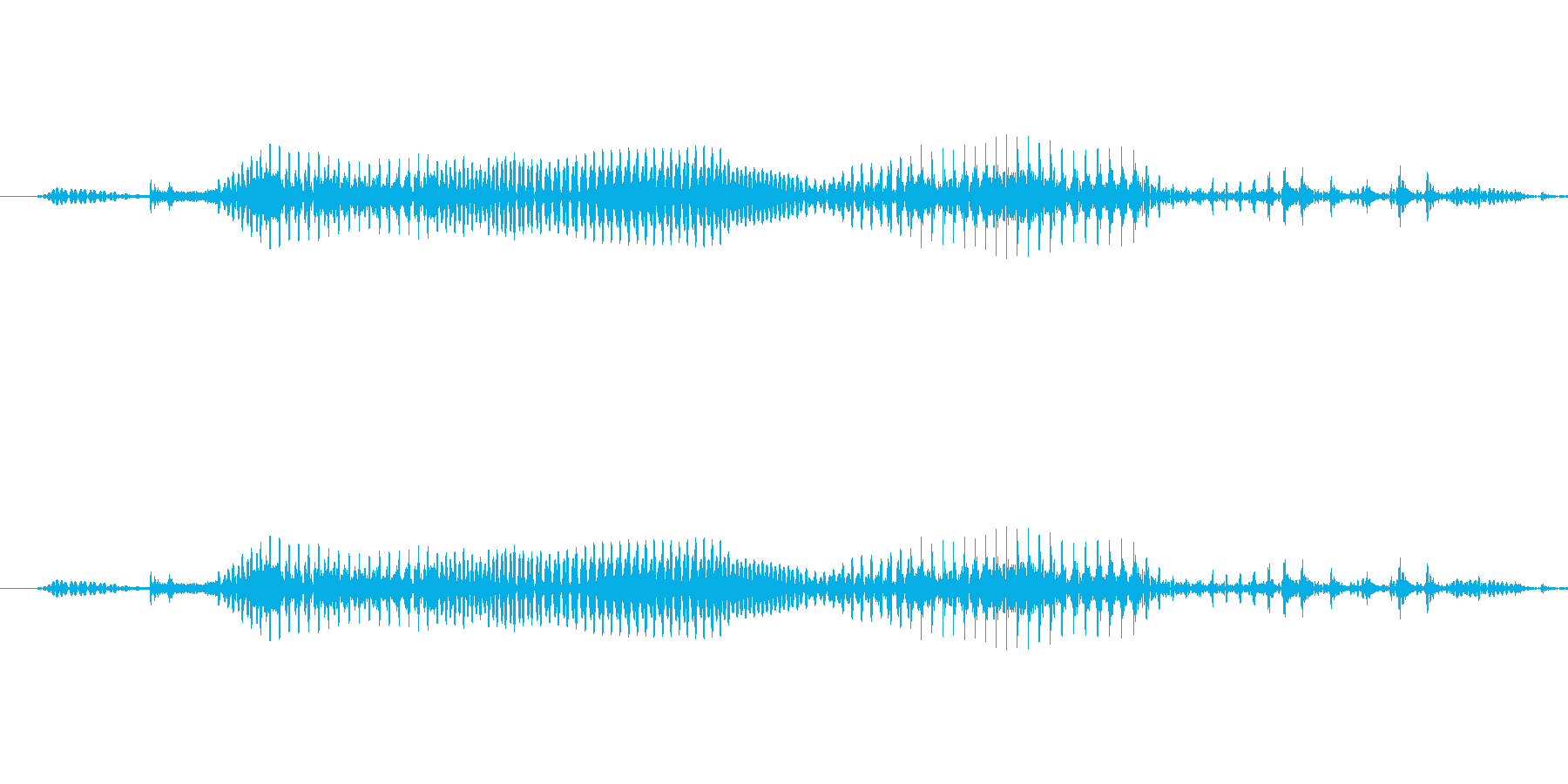 男声「GameOver」重めの再生済みの波形