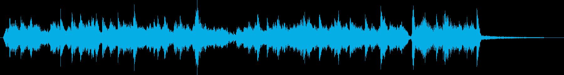 セルティックなアイルランド風のジングルの再生済みの波形