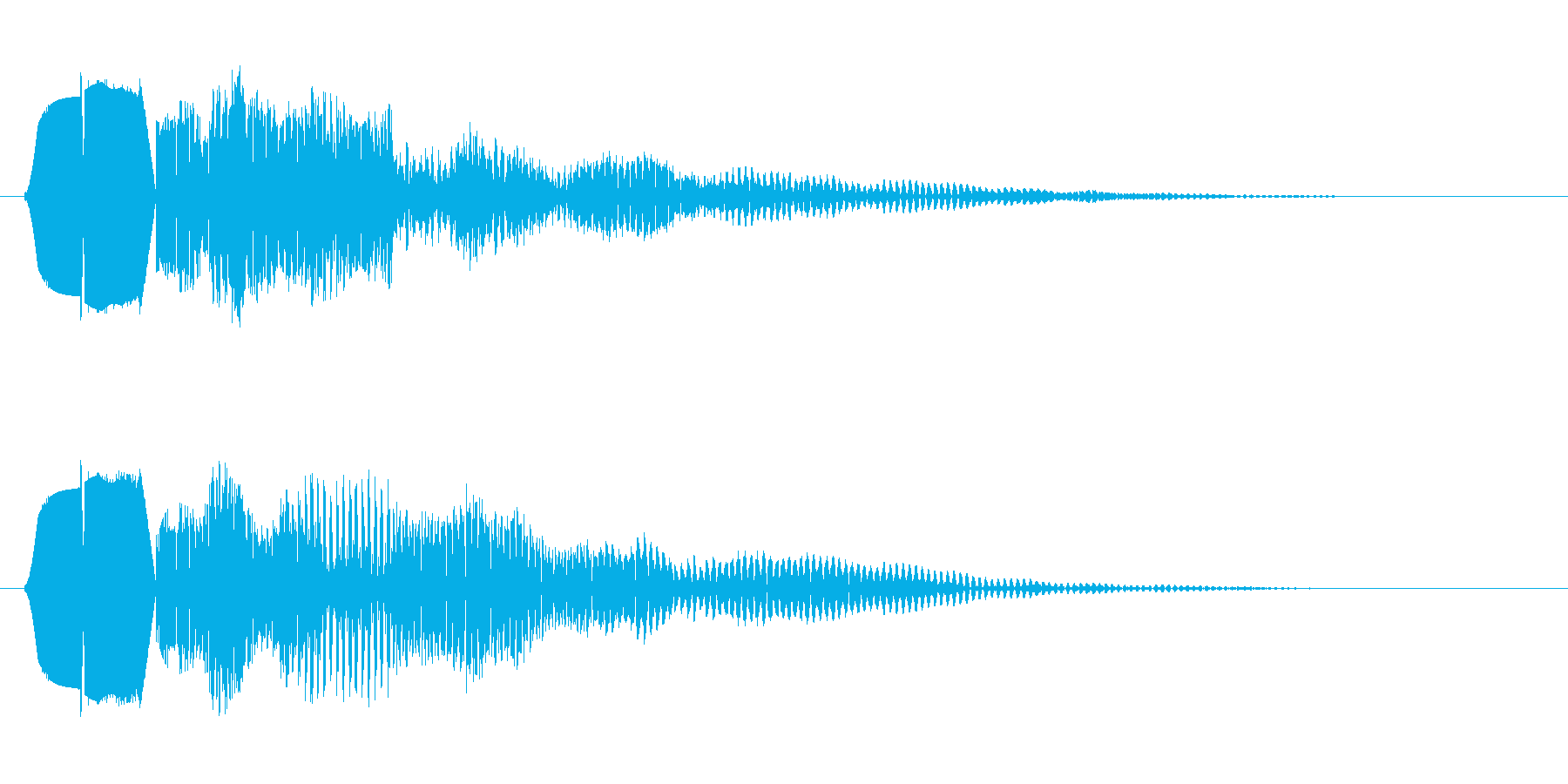 ピボッ(プッシュ音)の再生済みの波形