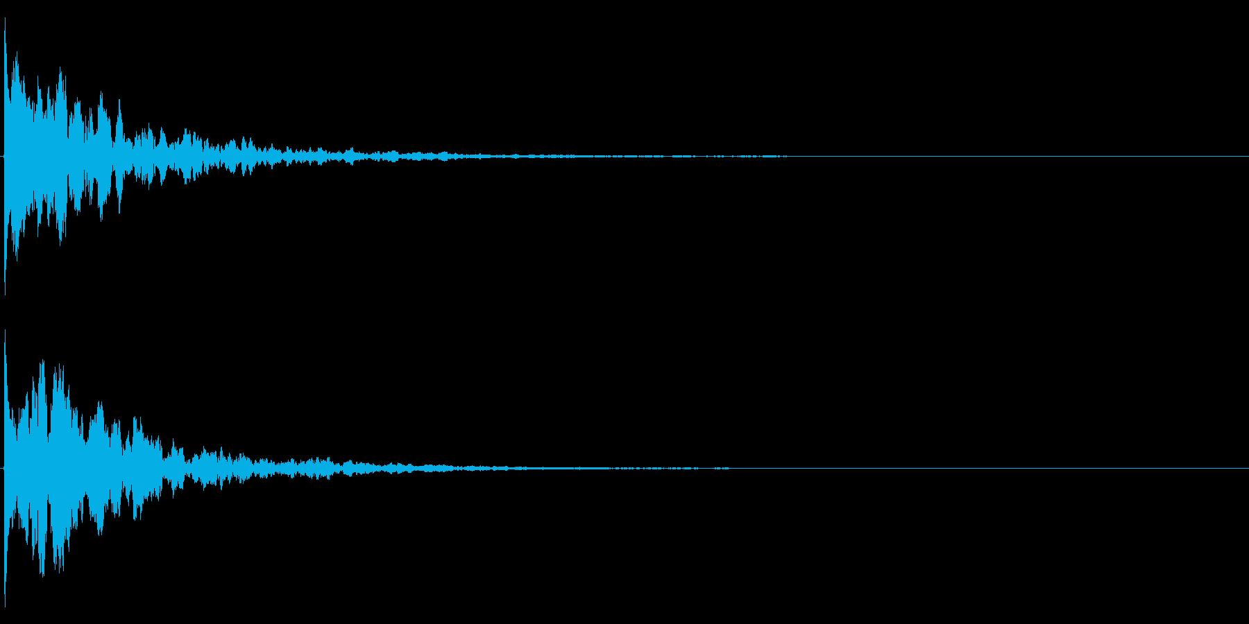 ゲームスタート、決定、ボタン音-121の再生済みの波形
