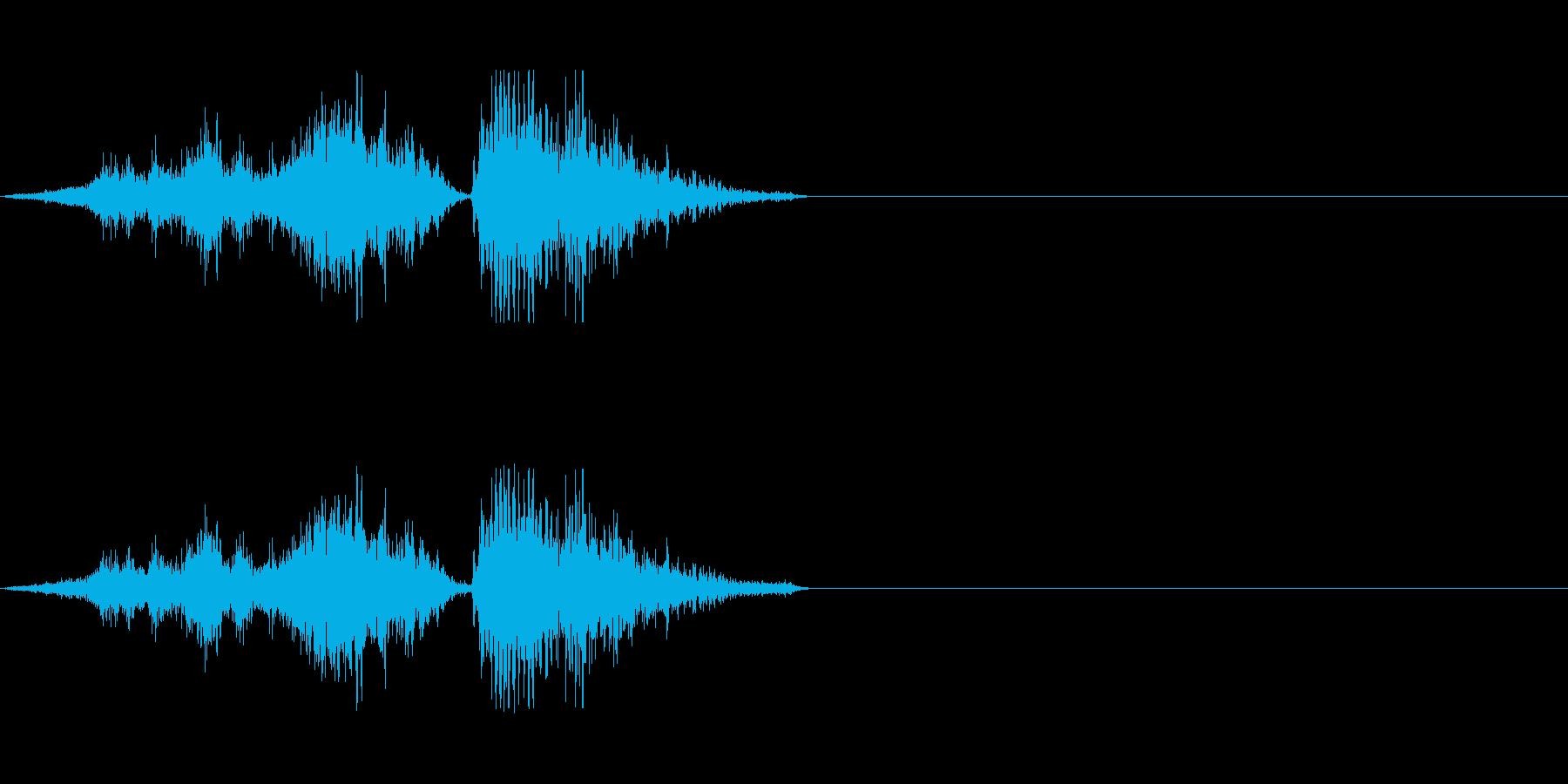 ゾンビの発声(攻撃)の再生済みの波形