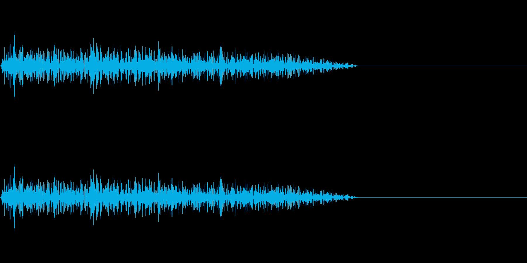 バシュ!(ゲームやアニメに使える攻撃音)の再生済みの波形