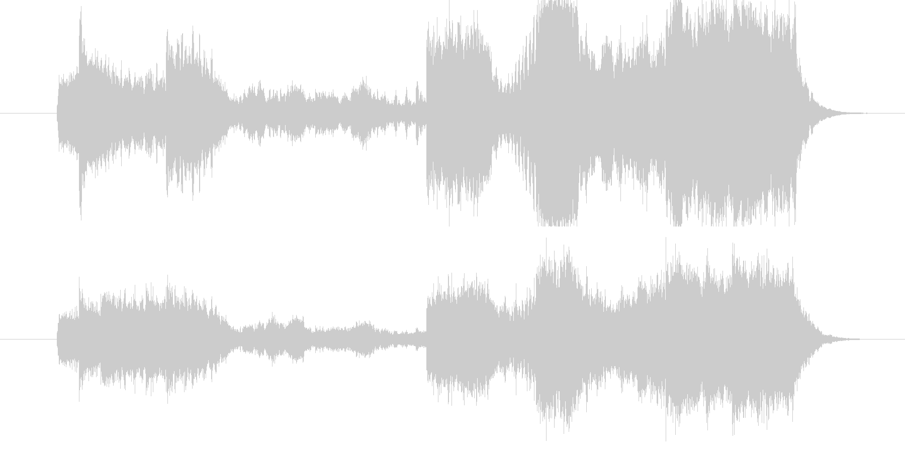 テンポ速めのファンファーレ。頭の空白、…の未再生の波形