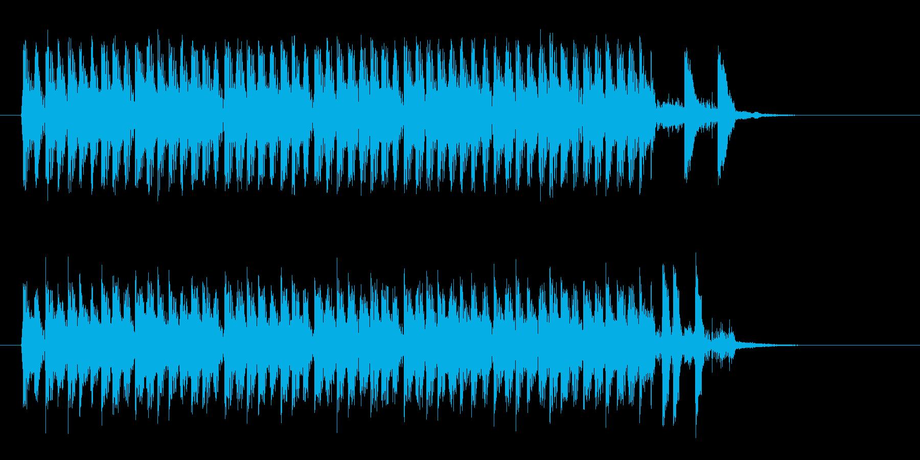 メカニックで硬質テクノサウンドの再生済みの波形