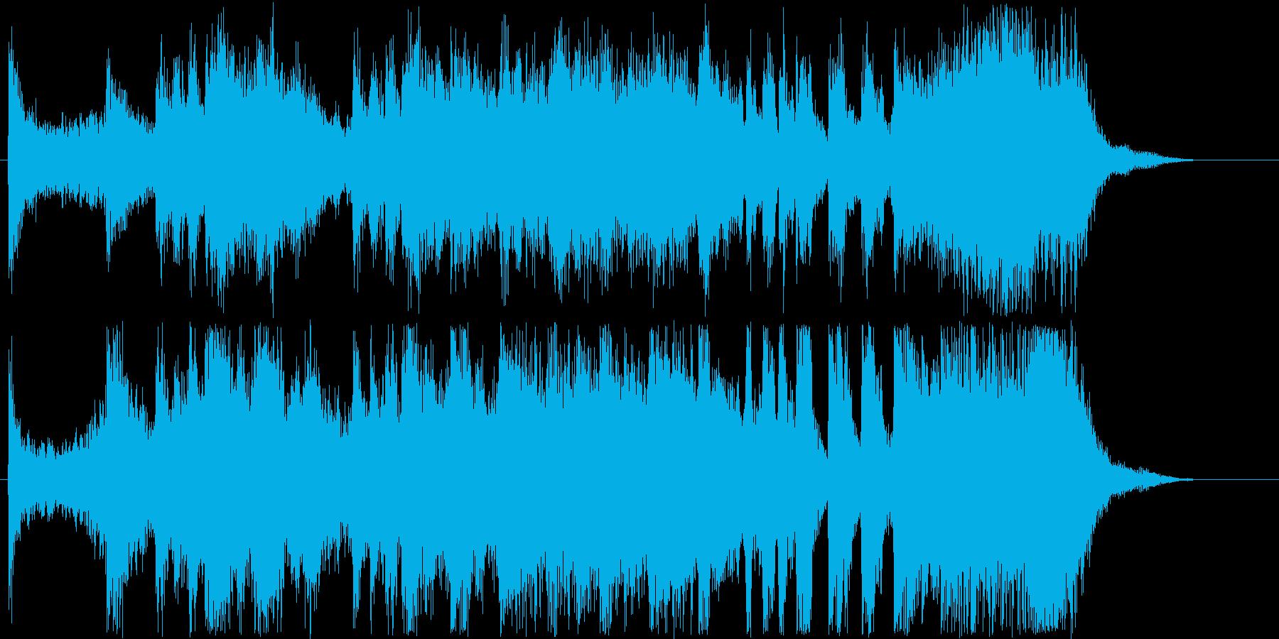 ファンファーレのようなショートソングの再生済みの波形