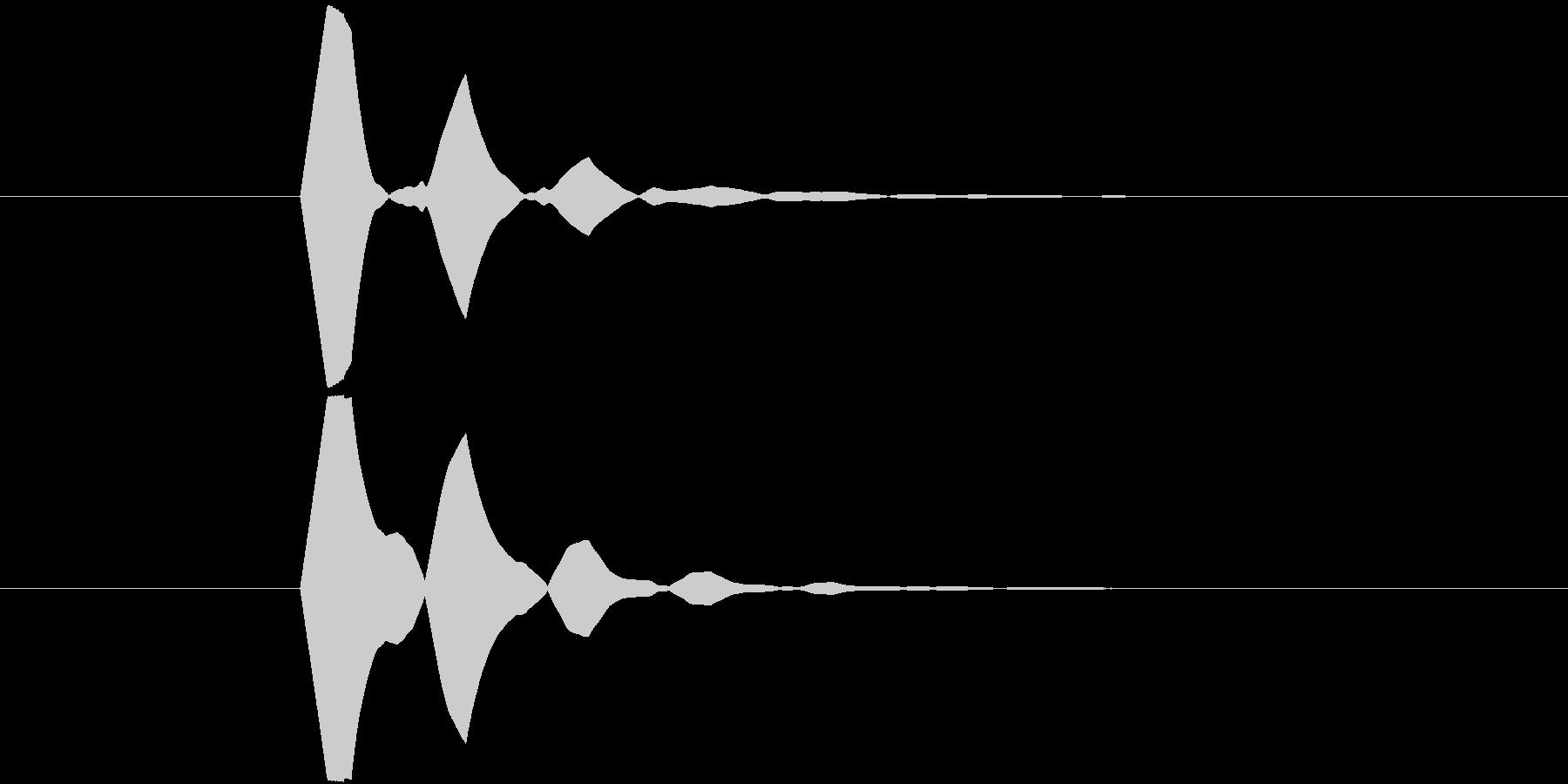 ソフトで無機質なボタン Aの未再生の波形