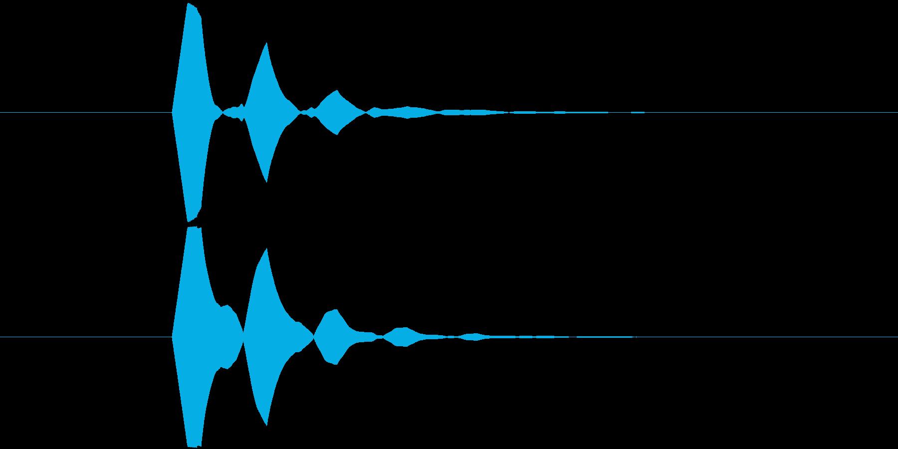 ソフトで無機質なボタン Aの再生済みの波形
