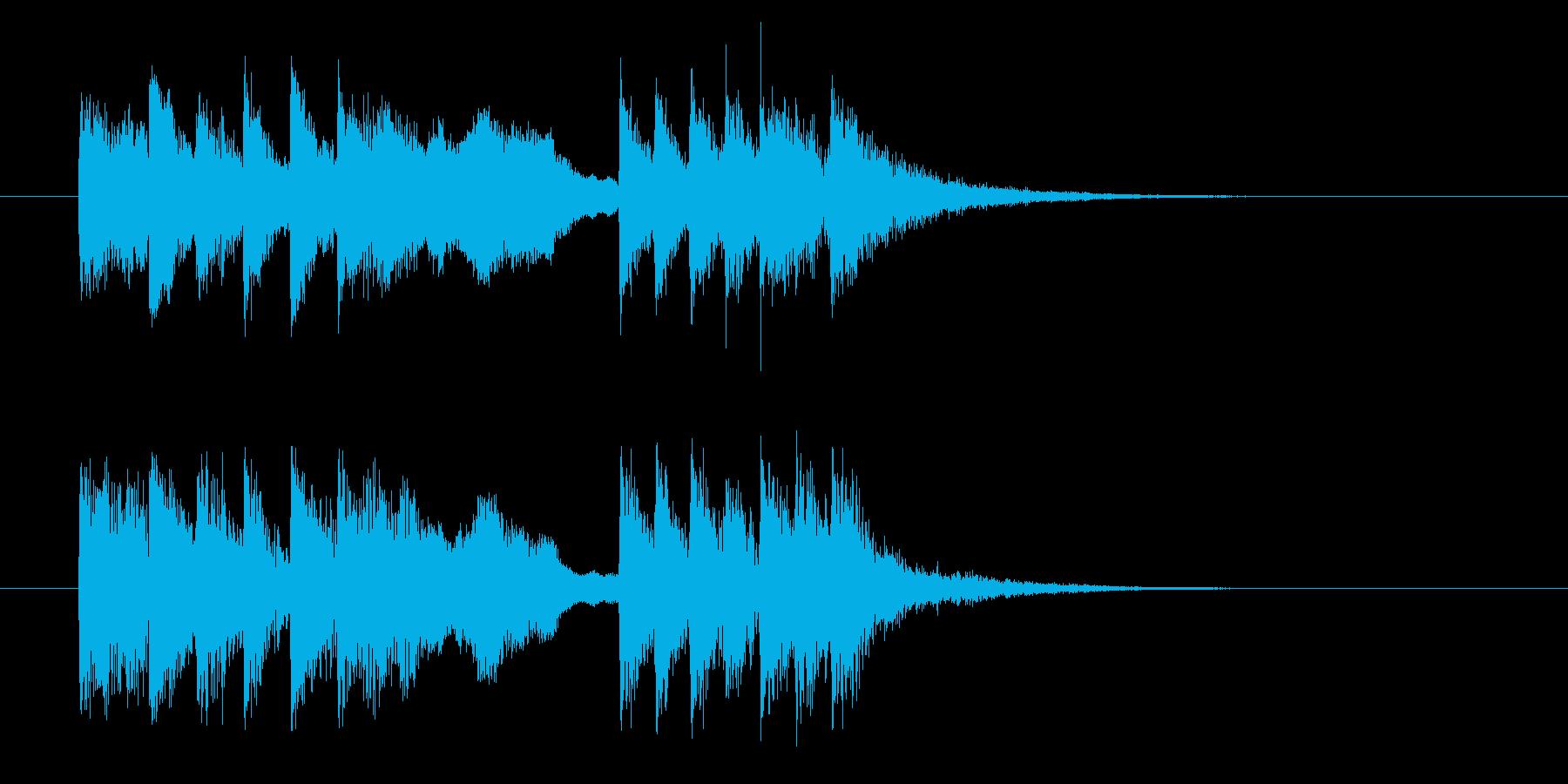 緩やかで勢いあるダンディーなジングルの再生済みの波形
