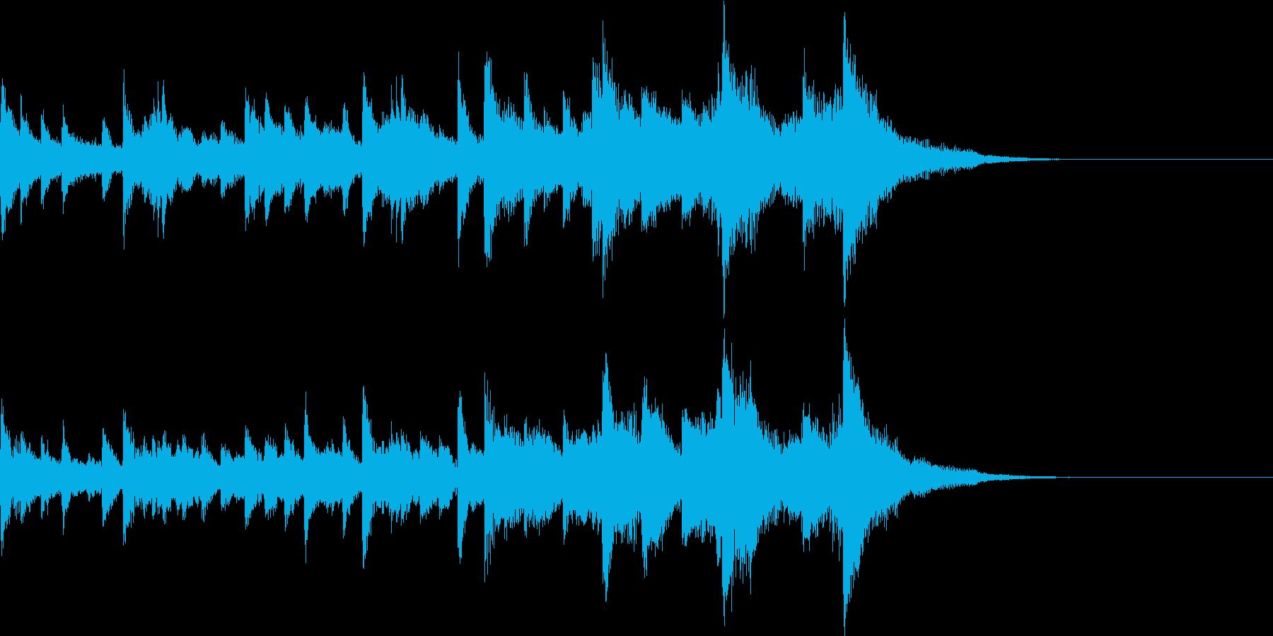 ピアノソロ タイトル画面の再生済みの波形