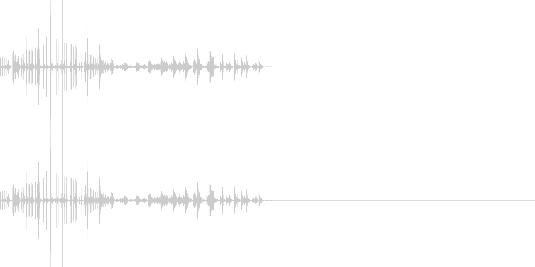 ムワッ(マイナスイメージ)の未再生の波形