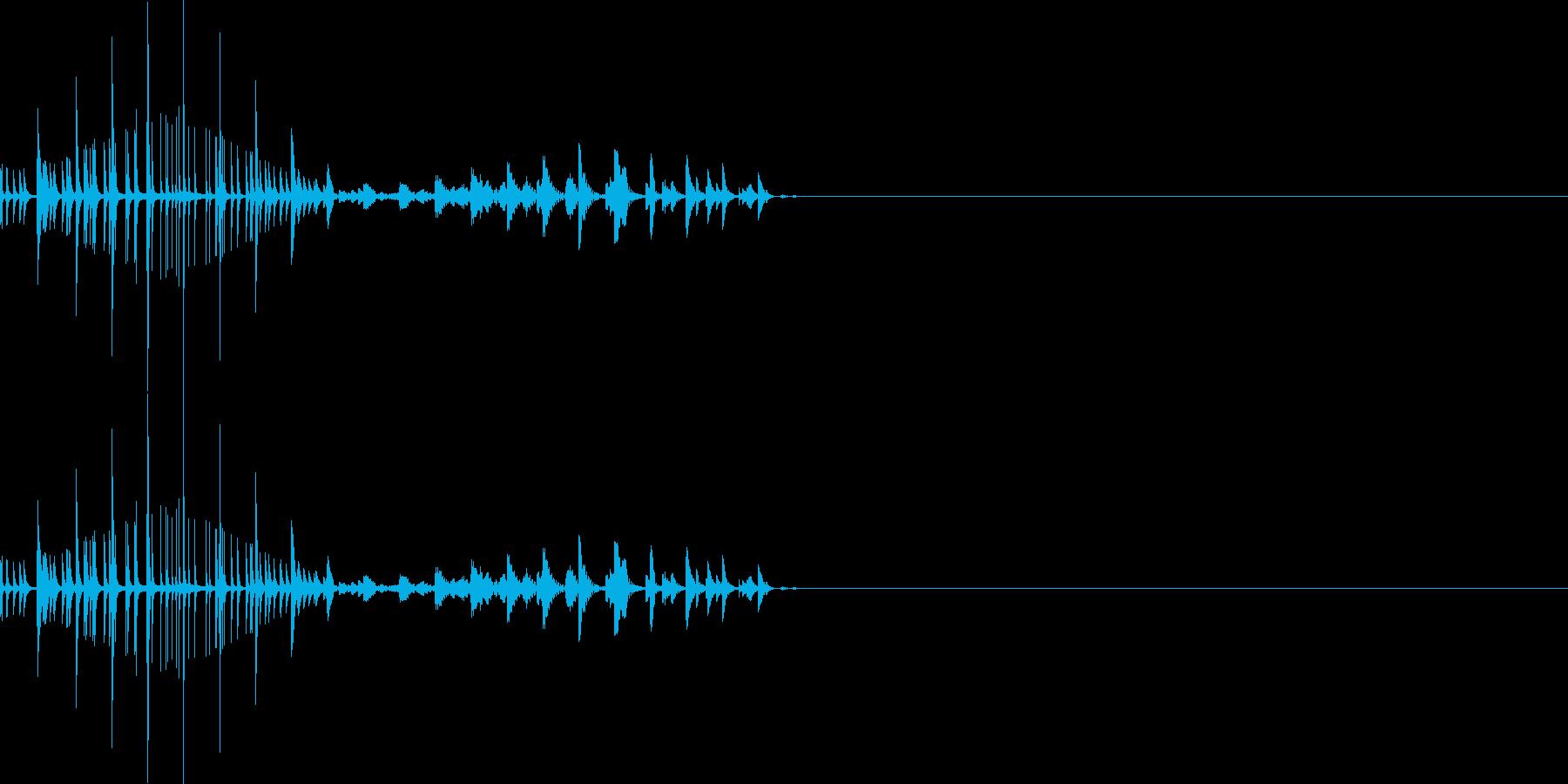 ムワッ(マイナスイメージ)の再生済みの波形