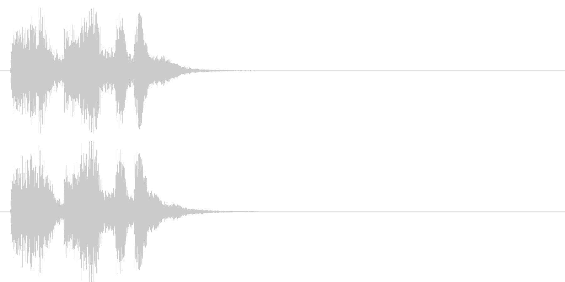 場面転換 コミカル クイズ エンディングの未再生の波形