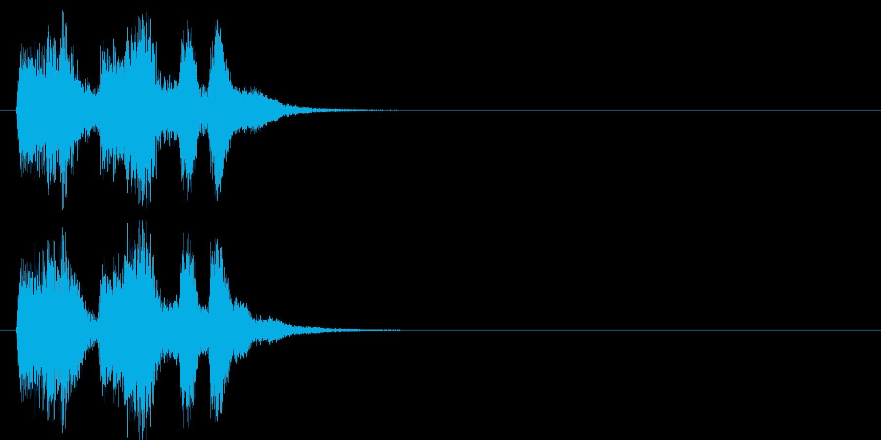 場面転換 コミカル クイズ エンディングの再生済みの波形