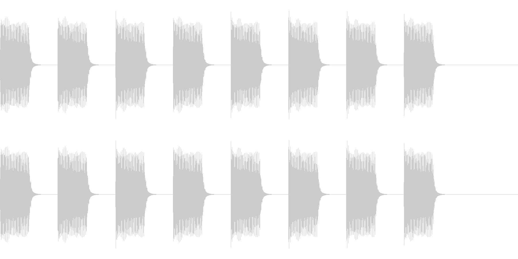 ブーブーブー…ブザー・アラーム音の未再生の波形